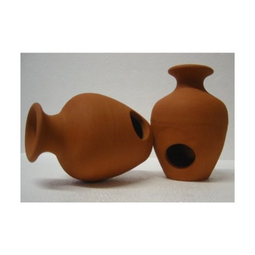 Unbekannt Vase mit 2 Eingängen in terra