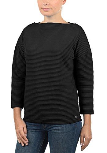 DESIRES Jona Damen Sweatshirt Pullover Sweater Mit U-Boot-Ausschnitt Und 7/8 Arm, Größe:L, Farbe:Black (9000)