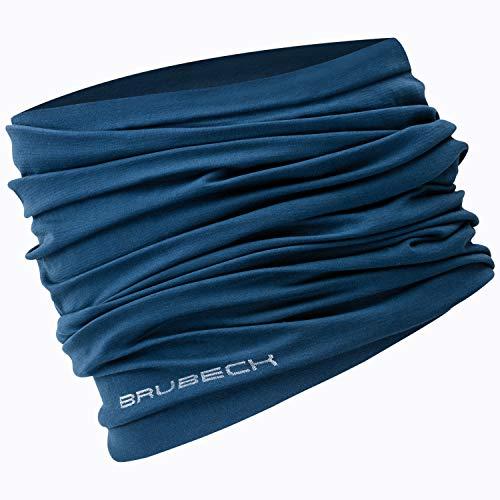 BRUBECK X-Dry Schlauchtuch   Herren   Damen   Halstuch   Funktionstuch   Schal   Kopftuch   Halswärmer   Sturmhaube   KM10350,S/M,Navy