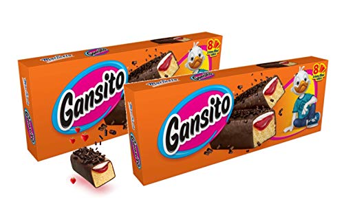 Marinela Gansito Strawberry Creme Filled Snack Cakes - 2 Boxes (16 Pcks)