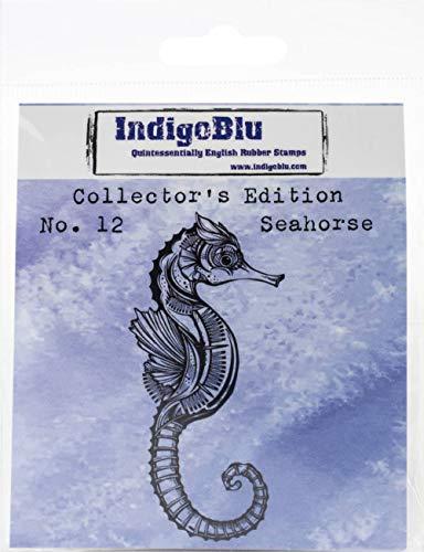 IndigoBlu zeepaardje nr. 12 Rood Rubber Stempel