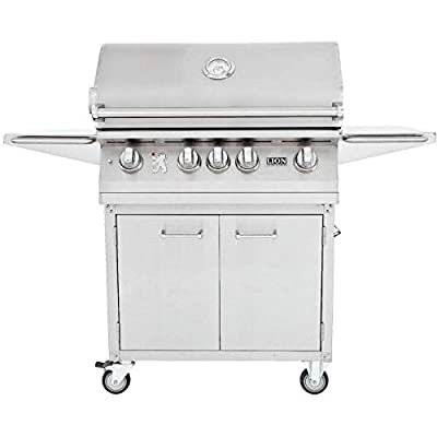 Lion 32 Inch Stainless Steel Propane Gas Grill On Cart