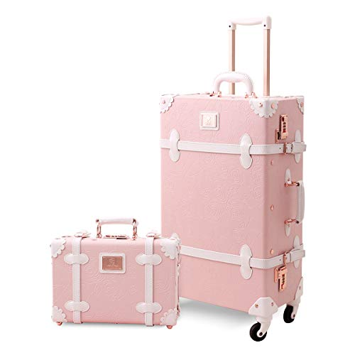 Axita スーツケース セット かわいい キャリーケース キャリーバッグ セット 復古主義 旅行 出張 静音四輪 可愛い トランクケース S型 機内持込可 13インチのハンドバッグ付き