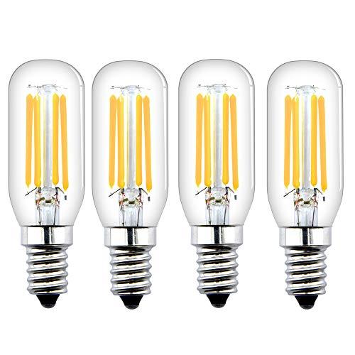 Bonlux E14 Non Dimmerabile 4W Lampadina Tubolare LED con 400LM, Equivalente a 40w lampadina Alogena, T26 Lampadina Filamento para Luce del Frigorifero (Bianca Calda 2700K, 4 Unità)