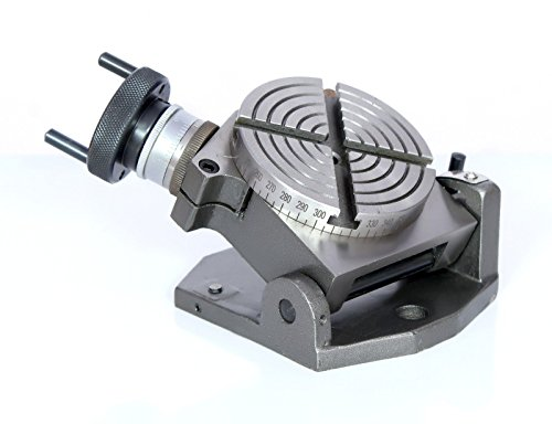 """New 4"""" Inches (100 mm) Quality Tilting Rotary Table for Milling Machines"""