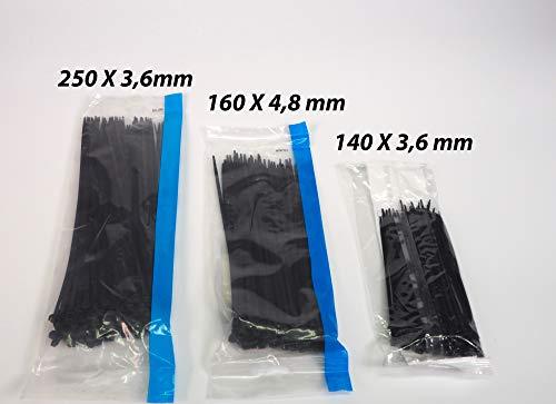 Sanfor 76015 Conjunto Bolsa bridas Nylon color negro + 140X3