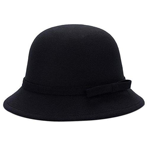Dosige Mujer Sombrero Hongo Gorra Bombín Visera Curvada