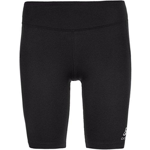 Odlo Pantalones Cortos de Running Malla, para Mujer, Mujer, Color Negro, tamaño Extra-Small