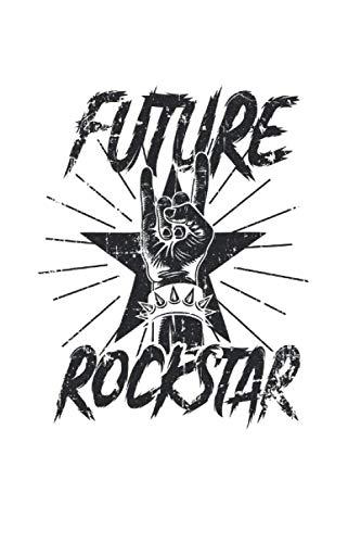 Rocknroll: Din A5 Devil Horn Notizbuch Future Rockstars Geschenk mit 120 Seiten