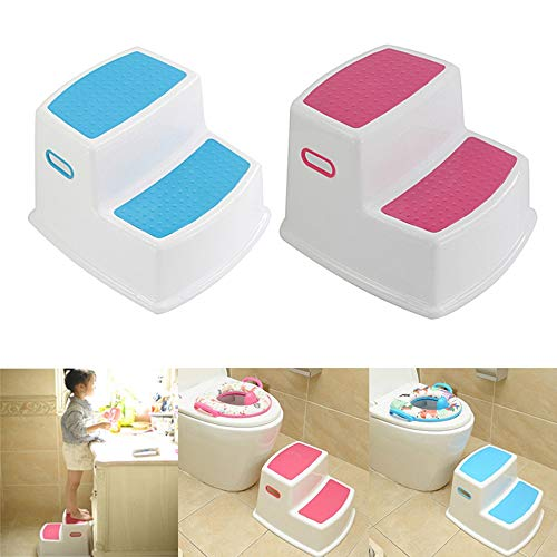Mooyod 2 Step Toddler Stool Safety Slip Resistant Soft Grip for Bathroom Toilet Potty Training