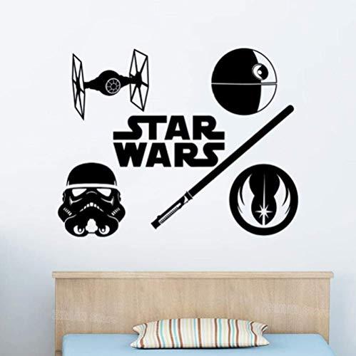 Pegatinas De Pared Logo Star Wars Wall Decal Jedi Order Tie Figh Stormtrooper Vinyl Sticker Decal Dormitorio Niños Famosos Carteles De Películas Clásicas42X53Cm