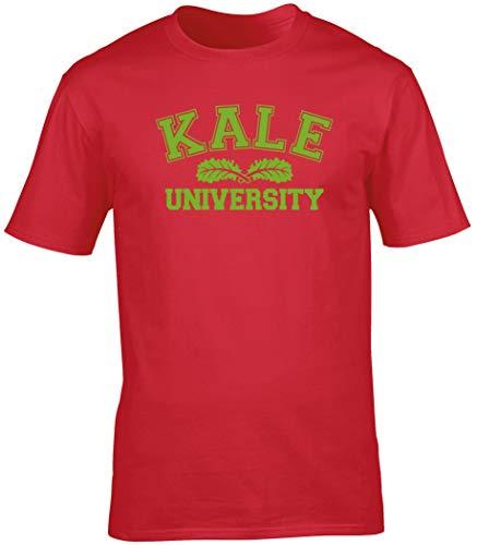 Hippowarehouse Kale University Unisex Short Sleeve t-Shirt (Specific Size Guide in Description) Red