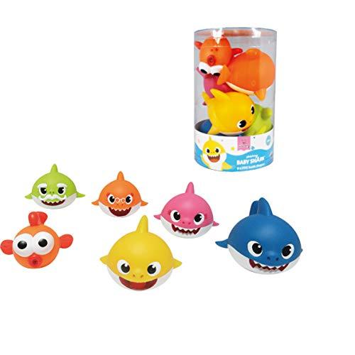 ODS 48821 Baby Shark - Juego de 6 Tiburones Suaves para el baño, Multicolor