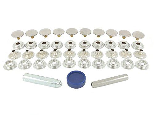 BP 850–7-Kit Reparatur von BH Stehbolzen Nickel-Messing 7mm für Anwendung von Stoff Druck auf Stoff