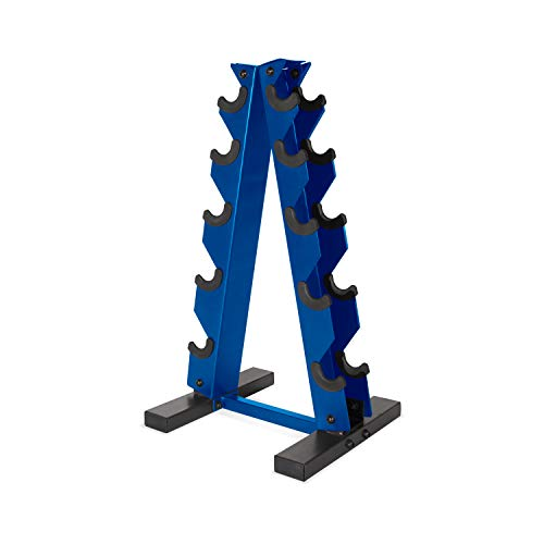 CAP Barbell A-Frame Dumbbell Weight Rack, Blue, Model: RK-12BIS-BL