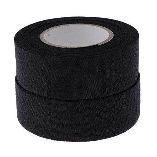 F Fityle 2x2 Rollos, Resistente Al Desgaste, Antideslizante, Deportes, Cinta de Palo de Hockey sobre Hielo, Negro