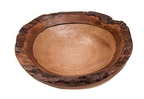 ROMBOL Dekorative Schale aus Mangoholz, oval, rund, klein