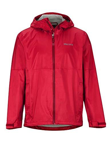 Marmot M. Europe, it Sporting Goods, 9IIY5 Precip Eco Plus Jacket Giacca Antipioggia Rigida, Impermeabile, Antivento, Impermeabile, Traspirante, Uomo, Team Red, M