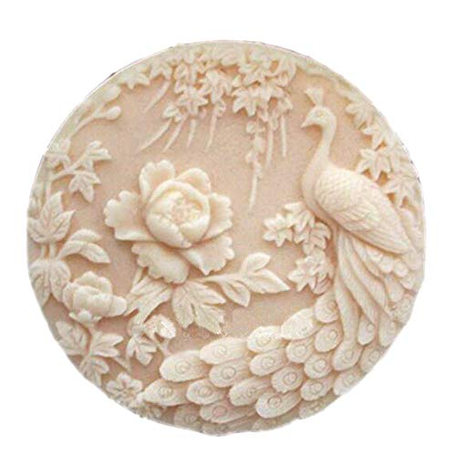 Peacock Bird Silicone Soap Molds Soap Molds for Soap Making Silicon Molds for Soaps DIY Craft Handmade Soap Candle Plaster Resin Mould (9)