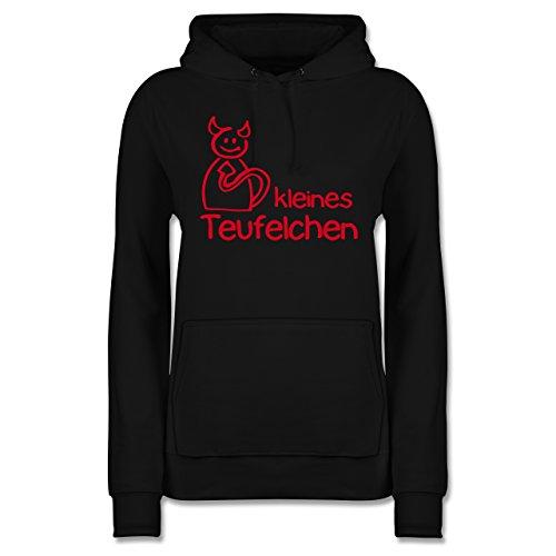 Sprüche - Kleines Teufelchen - XXL - Schwarz - Teufel Damen Hoodie - JH001F - Damen Hoodie und Kapuzenpullover für Frauen
