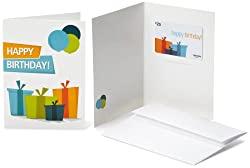 Gift card as a greeting card