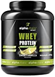 Whey Protein Pulver - Eiweißpulver für Proteinshakes, Kraftsport und Fitness - WPC Whey Konzentrat cross flow mikrofiltiert CFM Vanille 1000g