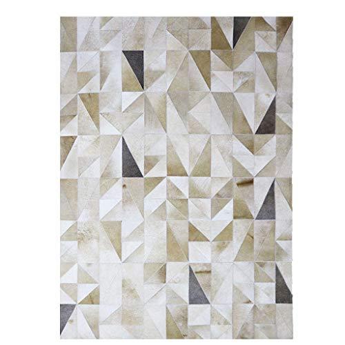 ACZZ Teppiche Teppich Premium s Teppich, handgemachtes Patchwork Echter Lederteppich Rutschfeste Klavierunterlage Wohnzimmer Schlafzimmer Arbeitszimmer Rechteckiger Nachtteppich,120 * 180cm