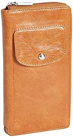 Hobo International Tatum Vintage Zip Around Leather Wallet in Caramel product image