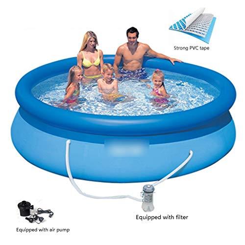 Piscinas Inflables Piscinas Ronda De Piscina Inflable De Los Niños Inflable Salón Piscina Agua For La Fiesta De Verano (Color : Blue, Size : 396 * 48cm)