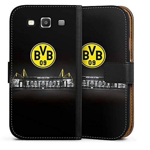 DeinDesign Klapphülle kompatibel mit Samsung Galaxy S3 Handyhülle aus Leder schwarz Flip Case BVB Stadion Borussia Dortmund