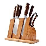 TUO Cutlery Knife Set with Wooden Block, Honing Steel and Shears-Forged HC German