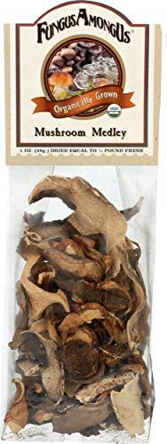 FungusAmongUs Dried Mushrooms, Organic Mushroom Medley, 1 Ounce Unit