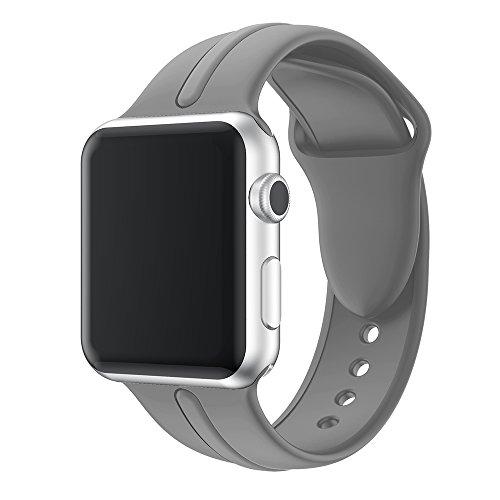 DYAO コンパチブル Apple Watch バンド 38mm 42mm 44mm 40mm、コンパチブル iWatch series 5/4/3/2/1 アップルウォッチ バンド、ソフトシリコン スポーツバンド、耐衝撃 防汗スポーツウォッチストラップ