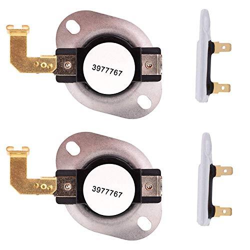 OxoxO 3977767 3392519 - Termostato para Secadora (Recambio para Secadora Whirlpool y Kenmore, sustituye a 3399693 WP3977767VP), Set 2
