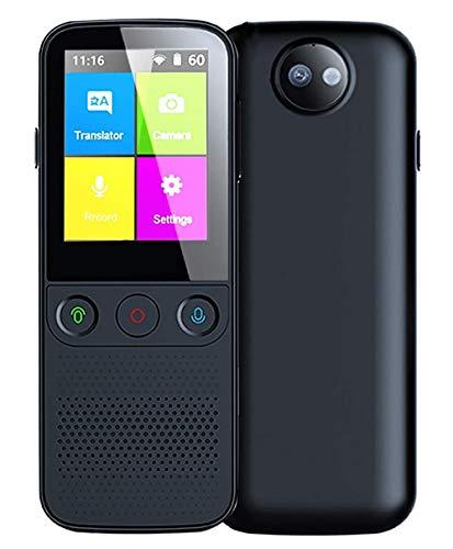 Englisch-Deutsch üBersetzer Ohne Internet Und Wlan 138 Sprachen mit 2,4-Zoll-Touchscreen-HD-Kamera Offline-Unterstützung Taschenübersetzer W-lan/Hotspot/Offline