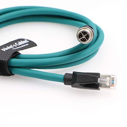Alvin's Cables M12 8 Position X Code auf RJ45 CCB-84901-2001-03 Ethernet Kabel für Cognex in Sight 8200 8400 Series P67 wasserdicht 5,0 m / 3 m grün