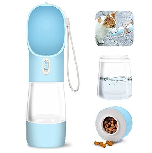 WR WPAIER 2 in 1 Bottiglia d'Acqua per Cani, 258ml + 200ml Portatile Cane Gatto Potabile Tazza Viaggio Acqua Ciotola Tazza Portatile ad Uso Esterno per Animali Domestici Blu