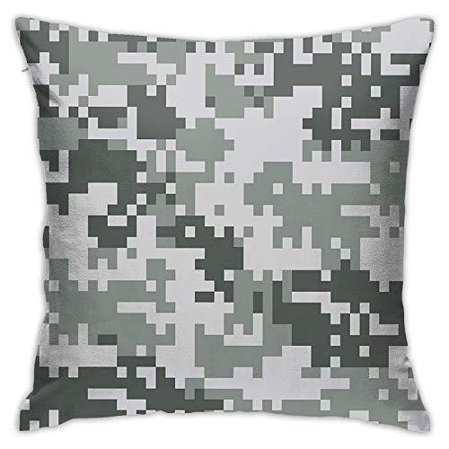 Kissenbezug Kissenbezug ,Digital Pixel Effect Modern Design Conceptual Commando Inspired Grey Toned ,18 x 18 Zoll
