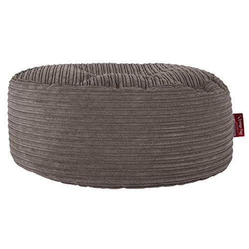 Lounge Pug®, Sitzhocker Pouf, Sitzpouf, Cord Schiefergrau