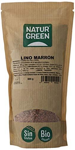 NaturGreen - Semillas de Lino Marrón Ecológico, 500 gr
