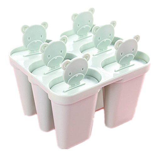 Vi.yo 6 Eisformen Popsicle Formen Set, Silikon Stieleisformen,Mit Trichter zum Befüllen - Selbstmach EIS am Stiel für Kinder und Erwachsene, Größe: 12,1 * 10,7 * 8 cm