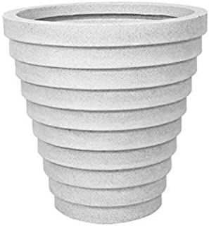 Supremo Eco Friendly Polyethylene White Round Pot/Planters (W-29 x H-30 Inches) 9161N