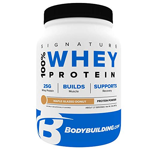 Bodybuilding Signature 100% Whey Protein Powder | 25g of Protein per Serving (Maple Glazed Donut, 2 Lbs)