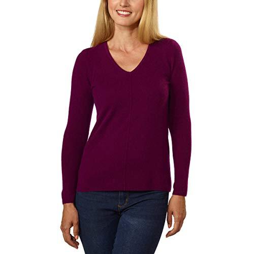 BELFORD Ladies' V-Neck Cashmere Sweater (S, Plum)