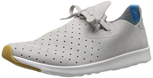 Native Unisex Apollo Moc Fashion Sneaker, Pigeon Grey/Shell White/Natural Rubber, 6 Women