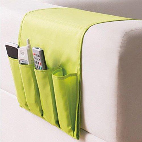 WINOMO Organizador de Reposabrazos Bolsillo Mandos y Bandeja para Sofa(verde)