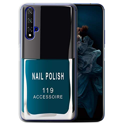 eSwish Gel TPU hoes/case voor Huawei Honor 20 / blauw patroon/nagellak/make-up collectie