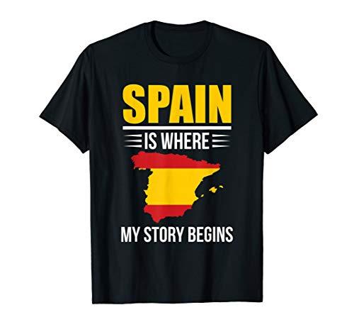 Spanische Herkunft Spanien Flagge Männer, Frauen Und Kinder T-Shirt