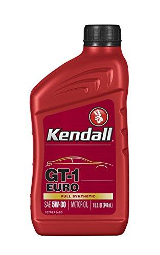 Kendall 1078251-12PK Euro Motor (GT-1 Full Synthetic Oil 5W30-1 Quart), 32 fl. oz, 12 Pack