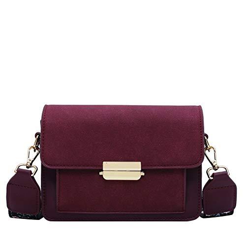 Borsa a tracolla moda donna piccola borsa messenger tracolla larga piazza colore di moda pacchetto colpo semplice Adatto a varie scuole, viaggi, regali (Color : WHITE, Size : 14 inch)